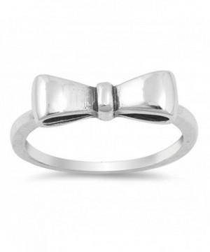 Oxidized Ribbon Fashion Sterling Silver