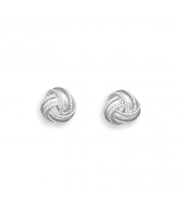 Love Knot Sterling Silver Earrings