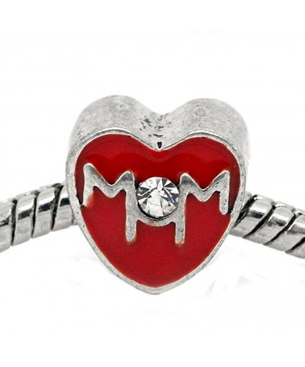 Mother Heart Snake Chain Bracelet