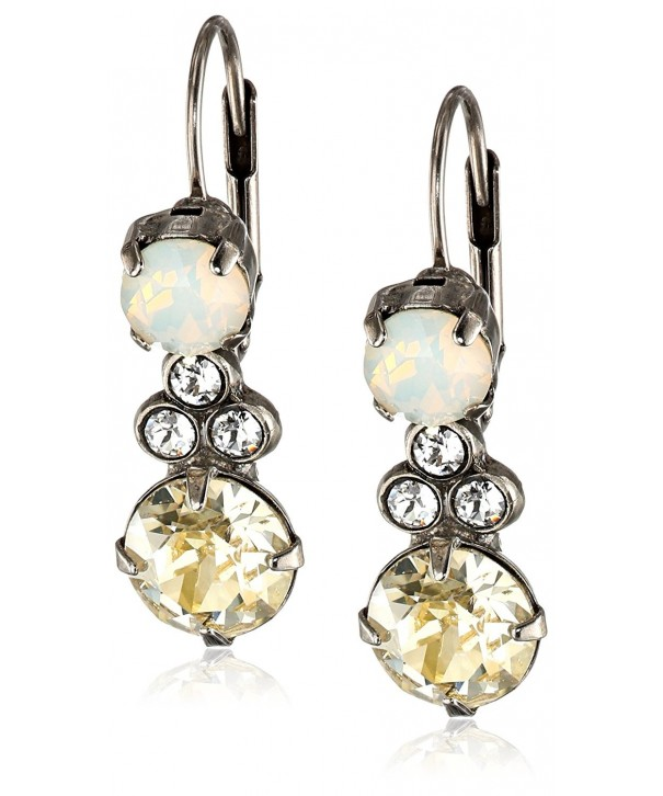 Sorrelli Clustered Circular Crystal Earrings