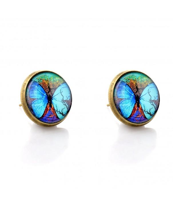 Vintage Fluorescent Butterfly Earrings 02004902