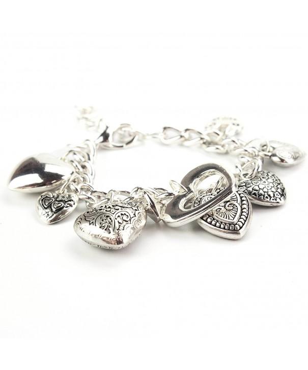 Womens Jewelry Heart Charm Bracelet