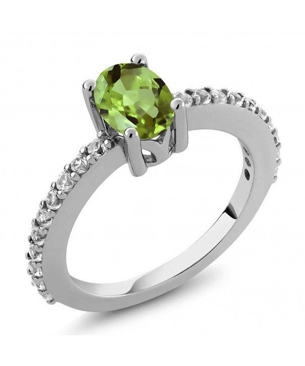 Peridot Created Sapphire Sterling Available