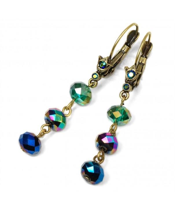 Sweet Romance Beaded Earrings Peacock