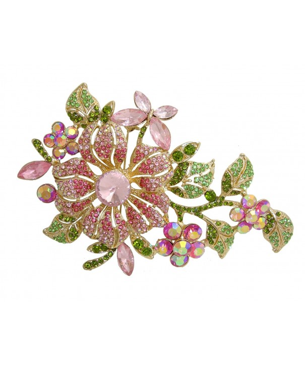 TTjewelry 4.45 Vintage Elegant Parrot Rhinestone Crystal Brooch Pin Bird Pendant