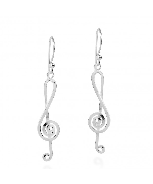 Melody Musical Treble Sterling Earrings