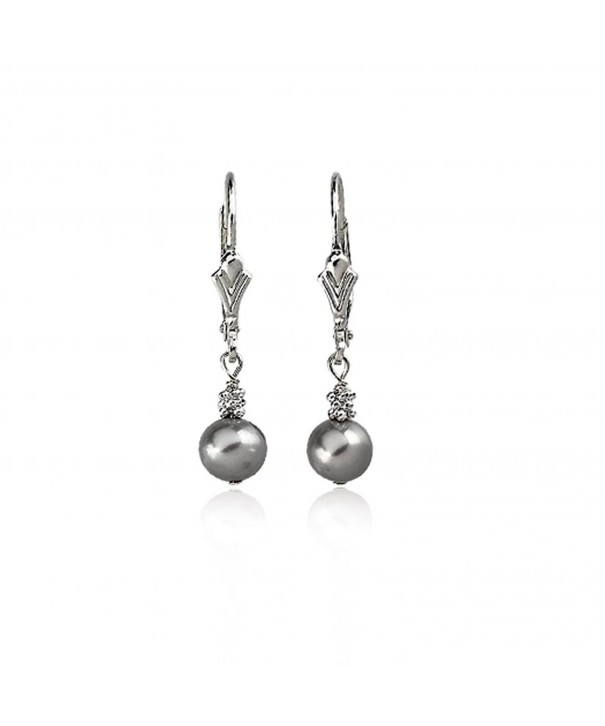 Sterling 5 0 6 0mm Freshwater Cultured Earrings