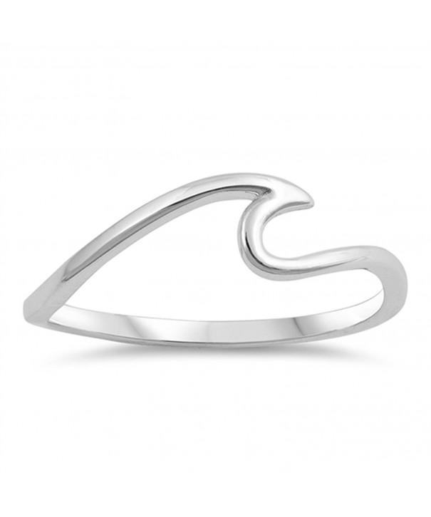 Ocean Swirl Thumb Sterling Silver