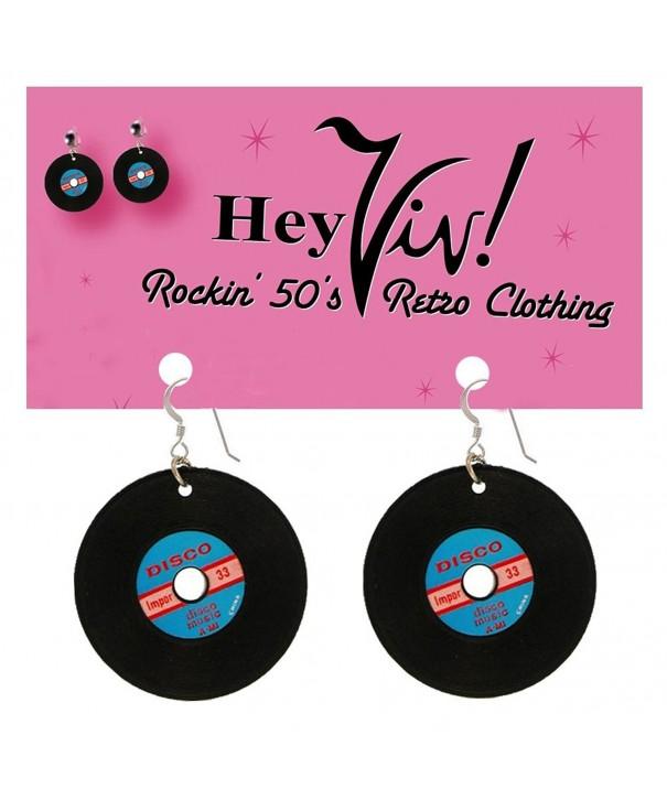 Record Earrings Pierced Sock Dance
