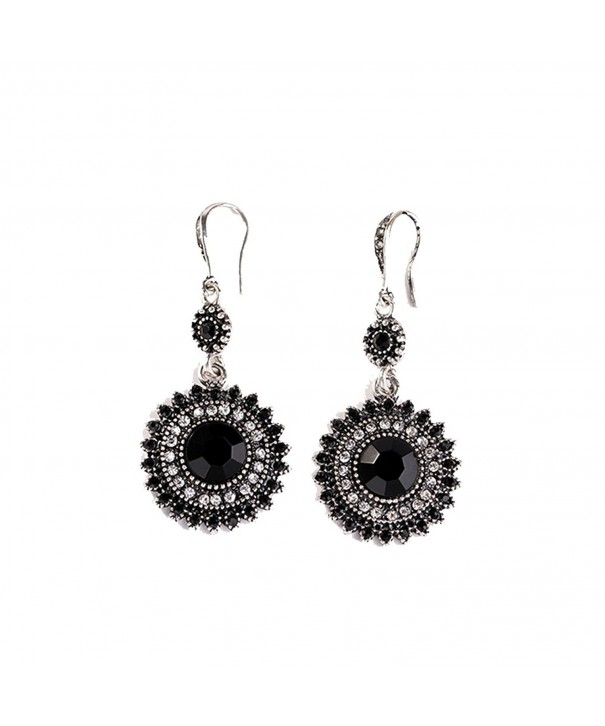 Fashion Crystal Synthetic Turquoise Earrings