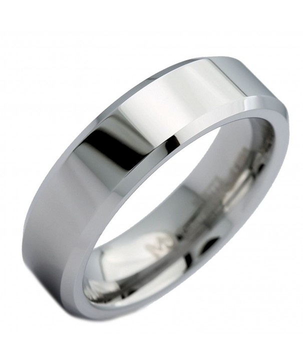 MJ Tungsten Carbide Polished Beveled