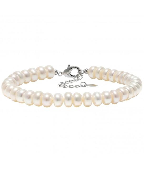 Aobei Cultured Freshwater Bracelet Silver tone