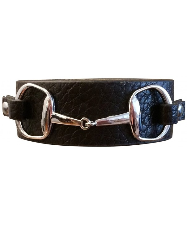 SILVER DOUBLE LEATHER BRACELET FITS WRISTS
