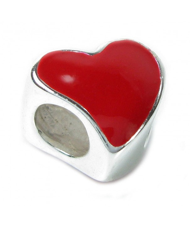 Sterling Silver Enamel Heart European