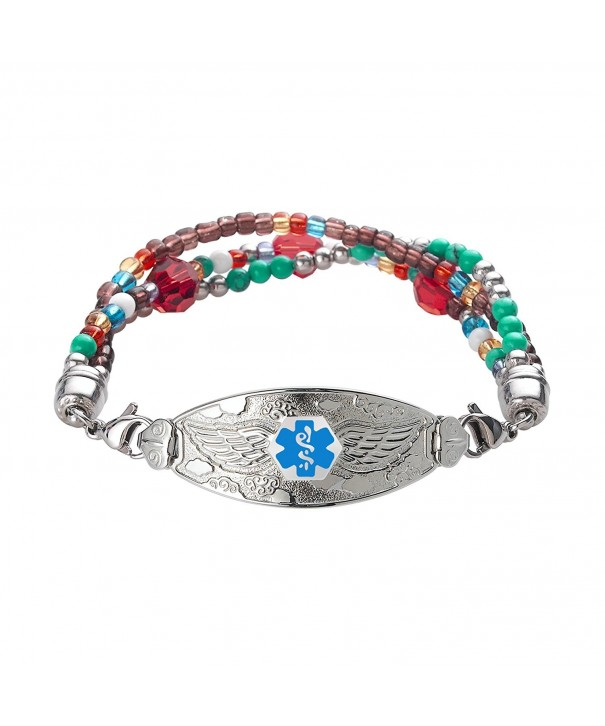 Divoti Engraved Bracelet Tri Strand Blue 8 0