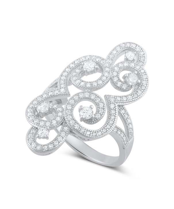 Sterling Silver Filigree Swirl Statement