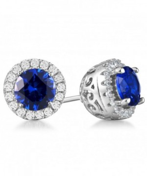 Vibrille Sapphire Sterling Earrings Zirconia