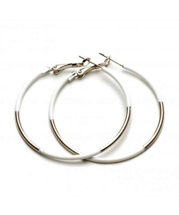 Womens Jewelry Earrings Silver Painted
