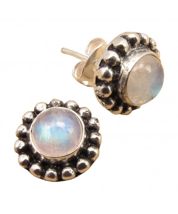 Cabochon MOONSTONE BEAUTIFUL Earrings HANDWORK