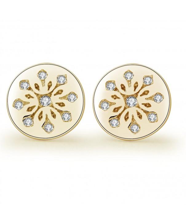 YAN LEI Sterling Snowflake Earrings