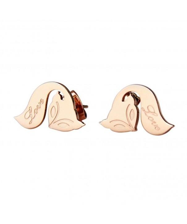 HIJONES Jewelry Stainless Fox shape Earrings