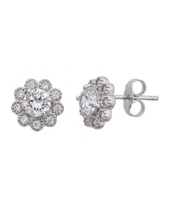 Sterling Silver Zirconia Earrings sterling silver