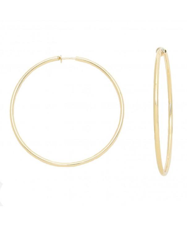Solid Goldtone Spring Clip Earrings