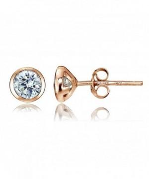 Sterling Zirconia Bezel Set Martini Earrings