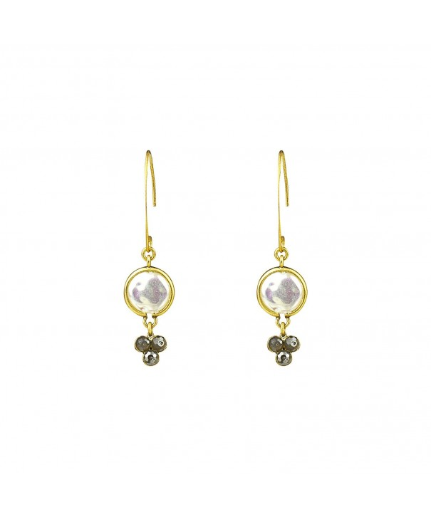 Mother Pearl Hammer Drop Earring