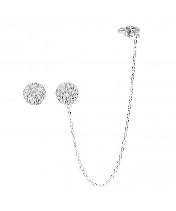 Sterling Silver Circle Single Earrings