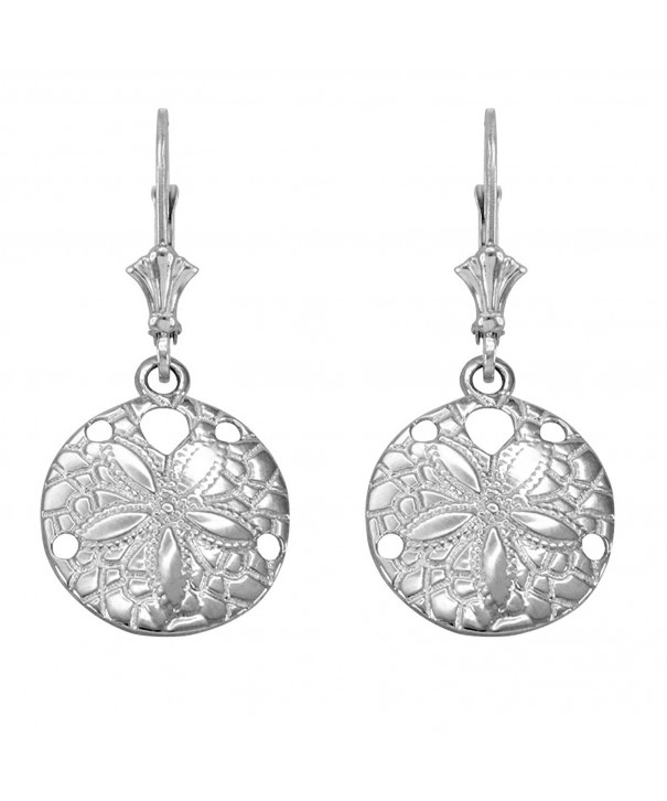 Sterling Silver Sea Leverback Earrings