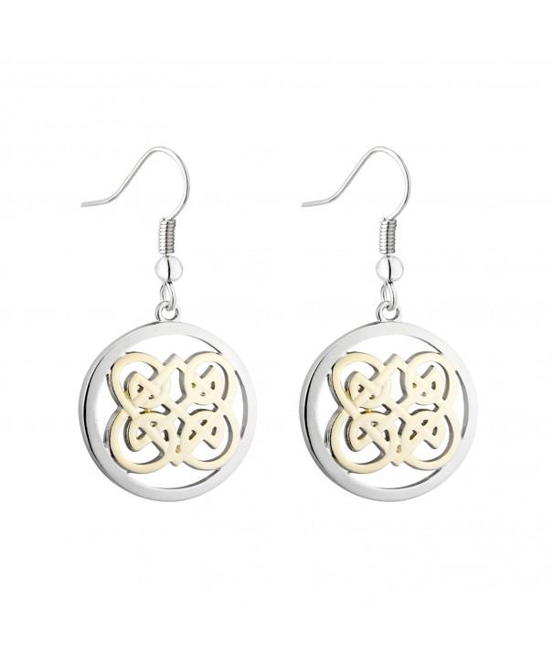 Book Kells Celtic Earrings Round