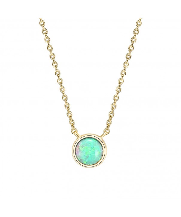 PAVOI Plated Round Bezel Necklace