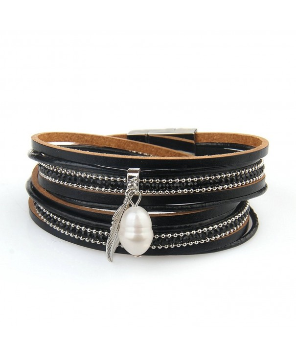 Casual Leather Bracelet Women Valentines