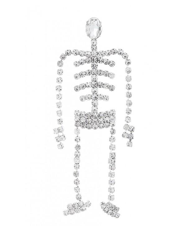Swinging Skeleton Rhinestone Halloween Crystals