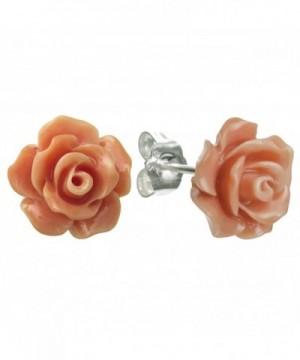Sterling Silver Simulated Orange Earrings