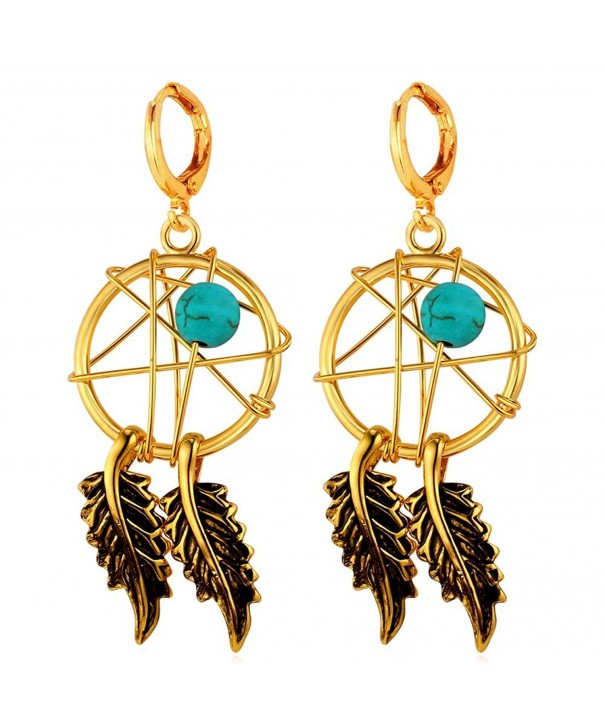 U7 Earrings Turquoise Decorate Catcher