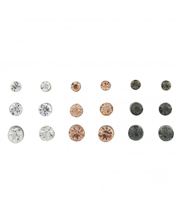 Lux Accessories Rhinestone Multiple Earring