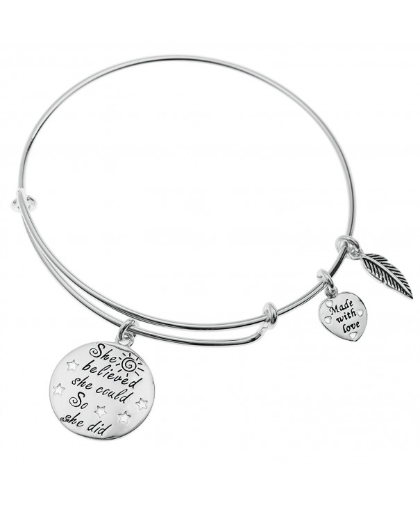 Sterling Silver Believed Adjustable Bangle
