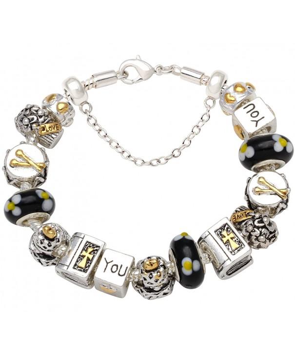 European Charm Complete Silver Tone Bracelets