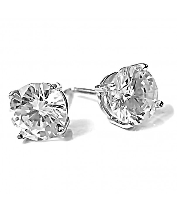 Candi Brilliant Screw Back Earrings Sterling