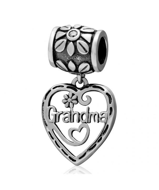 Grandma Dangle Charm Hollow Bracelets