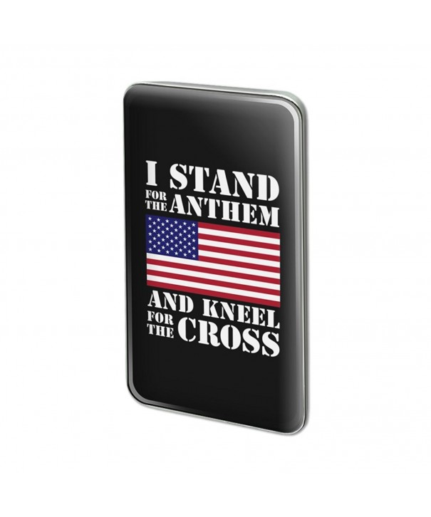 Stand Kneel Cross Rectangle Lapel