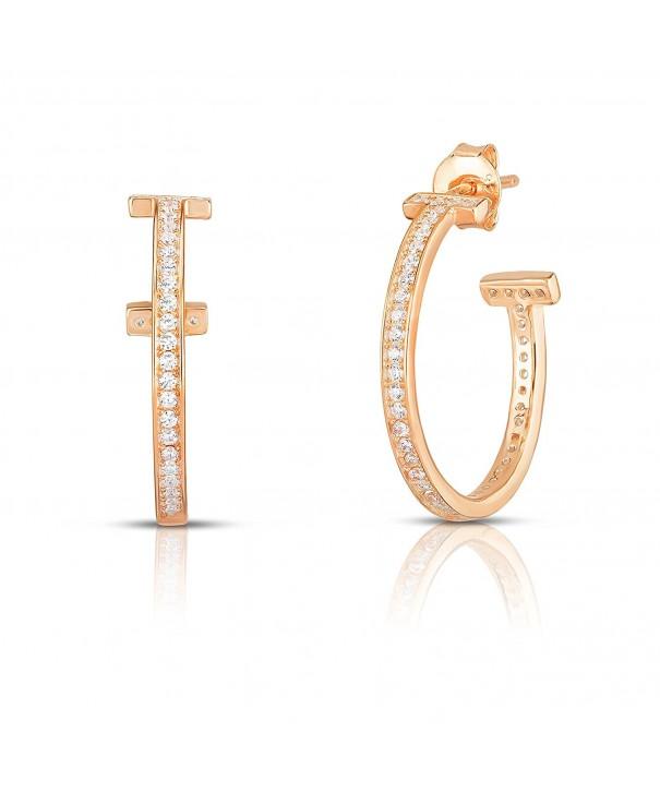 Plated Sterling Silver Zirconia Earrings