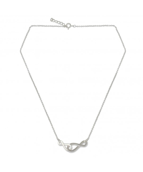 NOVICA Sterling Handmade Necklace Infinity