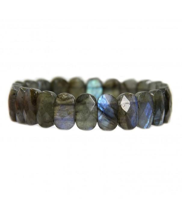 Labradorite Gemstone Faceted Stretch Bracelet