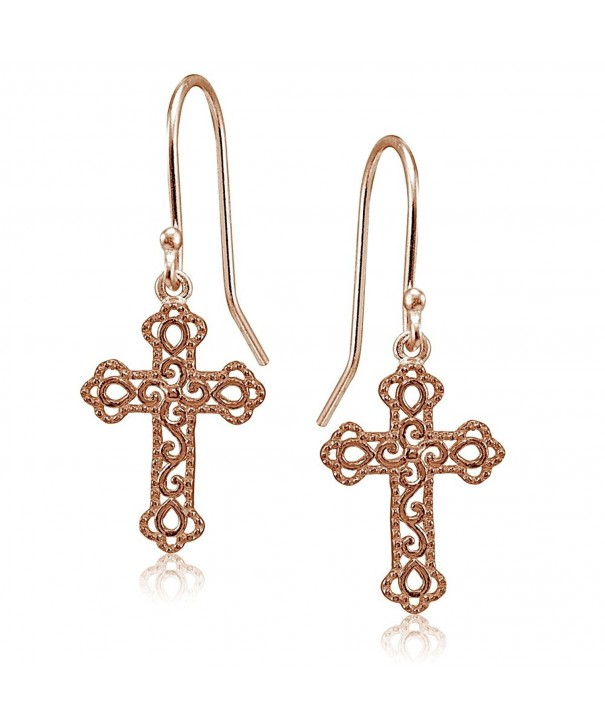 Flashed Sterling Polished Filigree Earrings
