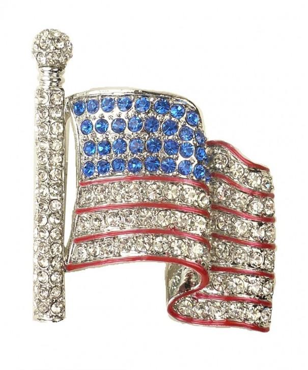 Love Country American Waving Rhinestone