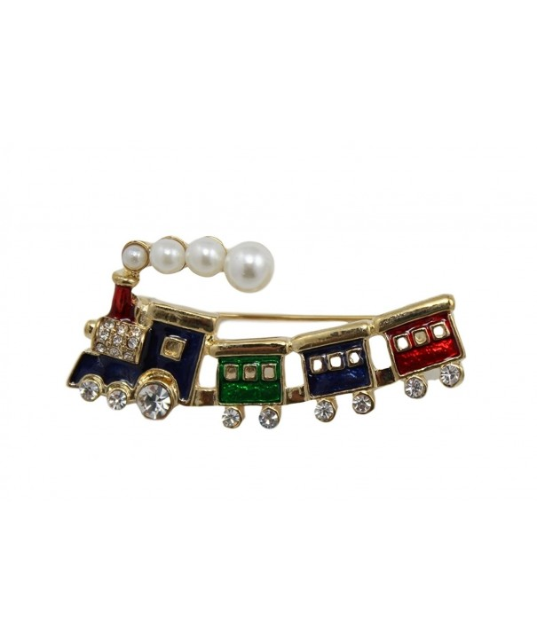 Brooch Rhinestones Imitation Pearls Finish