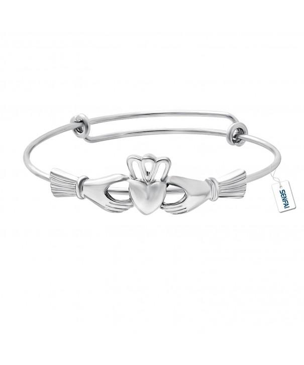 SENFAI Claddagh Adjustable Copper Bracelet
